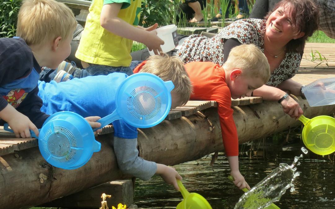 Kinder erforschen die Umwelt